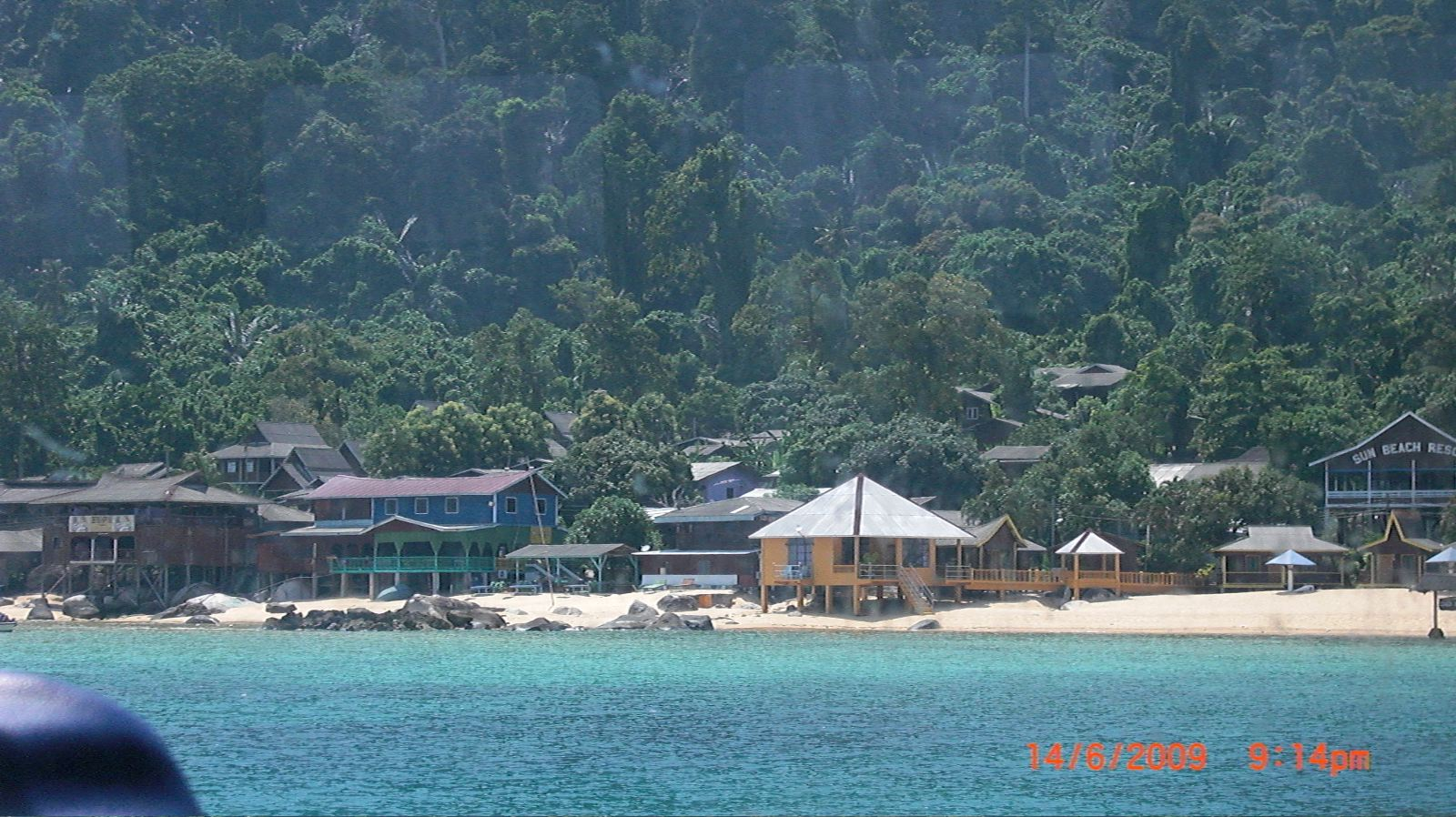 Tioman Island Malaysia  City pictures : Arriving at Tioman island, Malaysia.