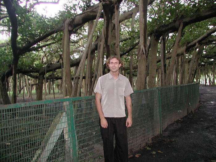 Me standing next to the fence that encircles the inner perimeter. You're not allowed to venture further in, so I took pictures.