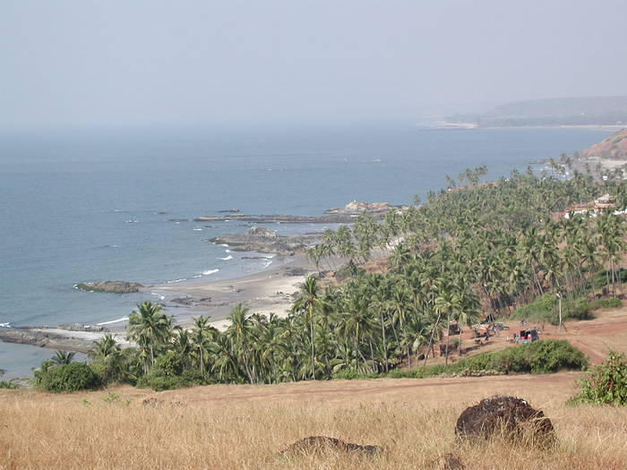 A view of Anjuna beach from above.