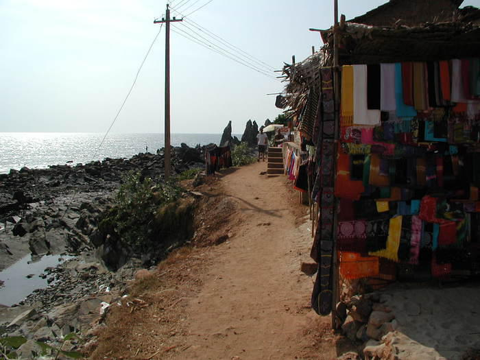 On the far end of Arambol beach, just as you turn the corner and head for the fresh-water lake.