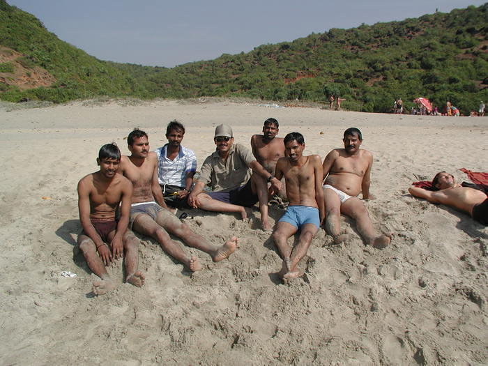 I met these guys on the beach -- they were all from Mumbai and here only for the weekend. They worked in software, just as I did