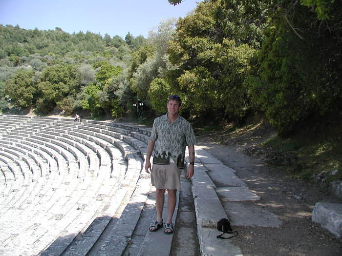 A 3000-year old stadium in the Peleponese, ancient Greece. Photo taken April 2004.