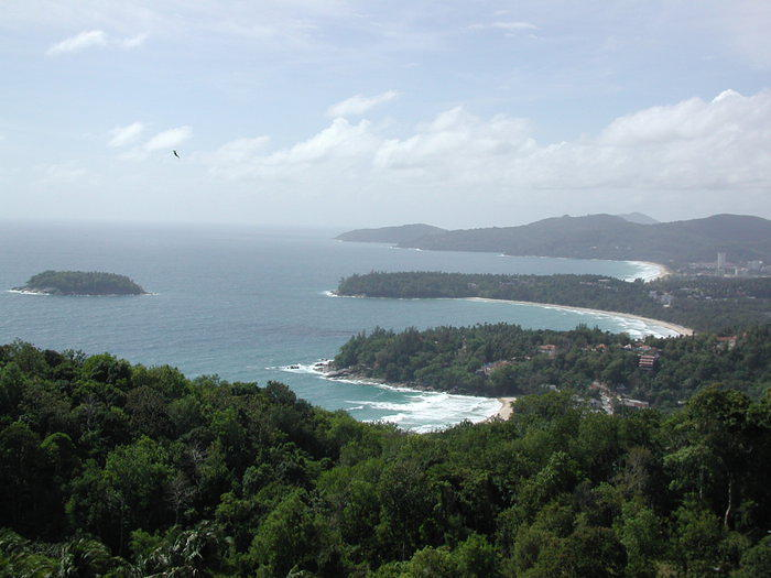 A view from high above in the hills of Phuket... as seen from a motorbike.