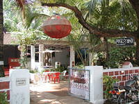 Rockstone restaurant in Vagator, Goa. I stayed here for a few nights for 70-/Rs. and the guy was pretty nice. We even shared our