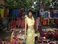 A Bollywood model being photographed at the Wednesday market in Anjuna.