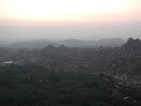 Sunrise in Hampi, just before the near year 2002.