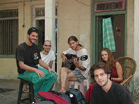Some friends at my guesthouse... all are from Israel.